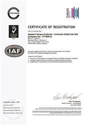 Chứng nhận UCMAS đạt chỉ tiêu ISO 9001 : 2015