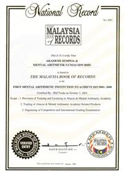 Ghi danh trong sách kỷ lục Malaysia lần 3