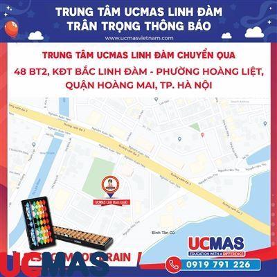 Thông báo chuyển địa điểm UCMAS Linh Đàm