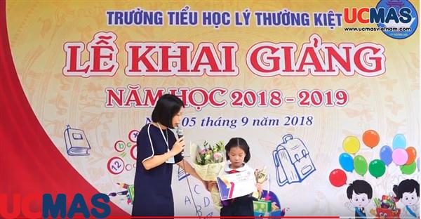 Vinh danh HSGQG 2018 - Trường TH Lý Thường Kiệt