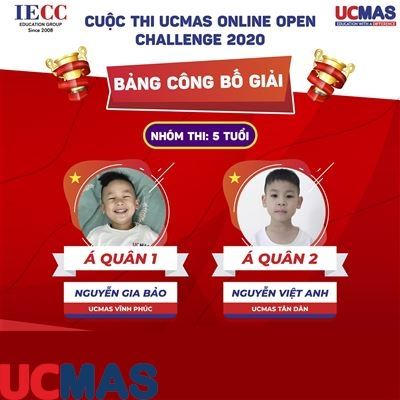 CÔNG BỐ GIẢI: CUỘC THI UCMAS ONLINE OPEN CHALLENGE 2020