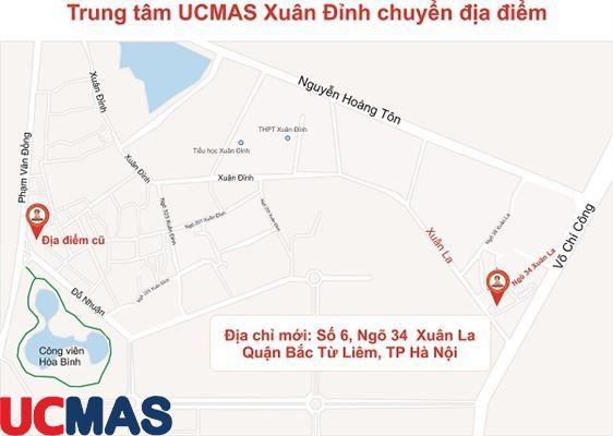 Thông báo chuyển địa điểm - Trung tâm UCMAS Xuân Đỉnh