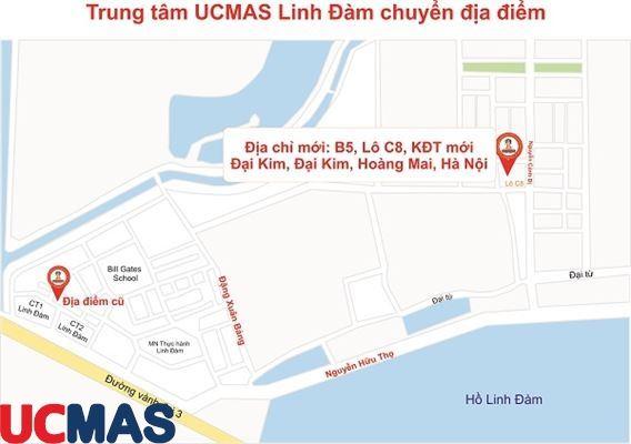 Thông báo chuyển địa điểm - Trung tâm UCMAS Linh Đàm