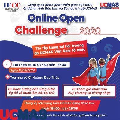 THÔNG BÁO: THI TẬP TRUNG CUỘC THI UCMAS ONLINE OPEN CHALLENGE 2020