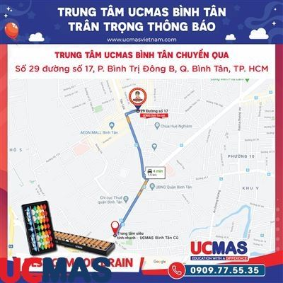 Thông báo chuyển địa điểm UCMAS Bình Tân