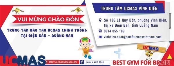 Tin vui tháng 12! Chào mừng trung tâm mới gia nhập hệ thống: UCMAS Vĩnh Điện - Quảng Nam