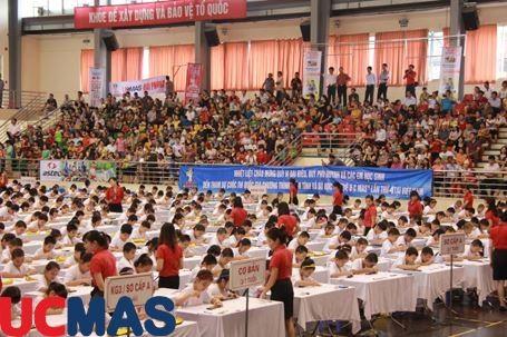 """Báo Dân Trí - Gần 650 học sinh tham dự chương trình """"Bàn tính và Số học trí tuệ UCMAS"""""""