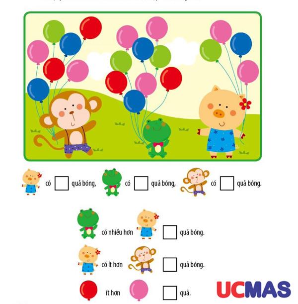 bài toán nhận biết hình khối cho trẻ 4 tuổi