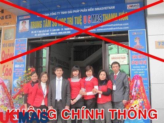Vấn đề trung tâm UCMAS KHÔNG chính thống ngang nhiên hoạt động tuyển sinh tại Thanh Hóa