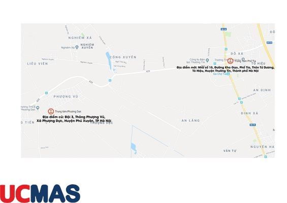 Thông báo chuyển địa điểm - Trung tâm UCMAS Phố Tía