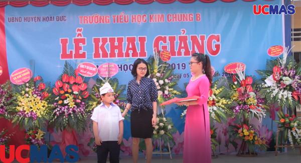 Vinh danh HSGQG UCMAS 2018 trường Tiểu học Kim Chung B