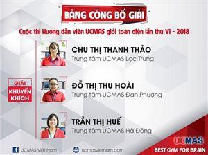 Cuộc thi Hướng dẫn viên UCMAS giỏi toàn diện lần thứ VI - 2018