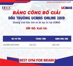 CÔNG BỐ KẾT QUẢ  ĐẤU TRƯỜNG UCMAS ONLINE 2019