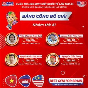 CÔNG BỐ GIẢI - Cuộc thi HSG UCMAS Quốc tế 2019 tại Campuchia